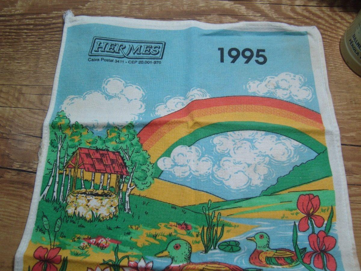 35b45a267d7 calendário antigo pano de prato catalogo hermes 1995 coleção. Carregando  zoom.