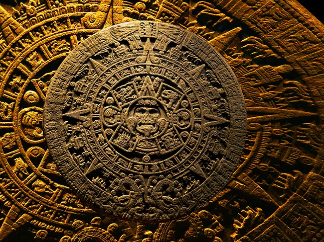 Calendario Azteca 2 Fotos De 50 X 75 Cms Comp Del Original