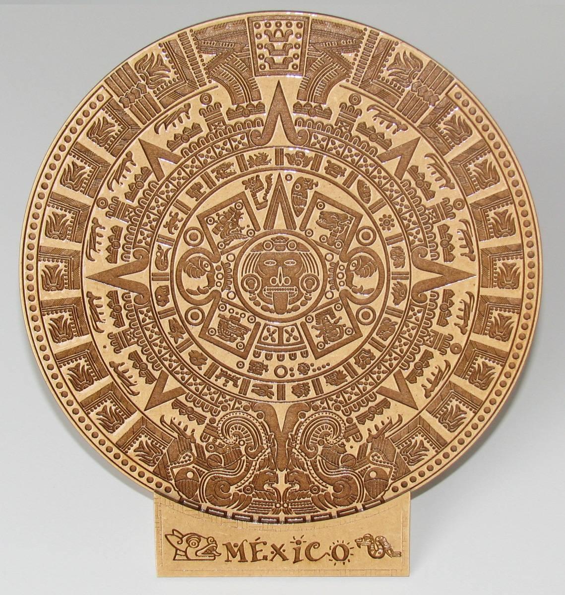Calendario Azteca.Calendario Azteca De 20 Cm Grabado