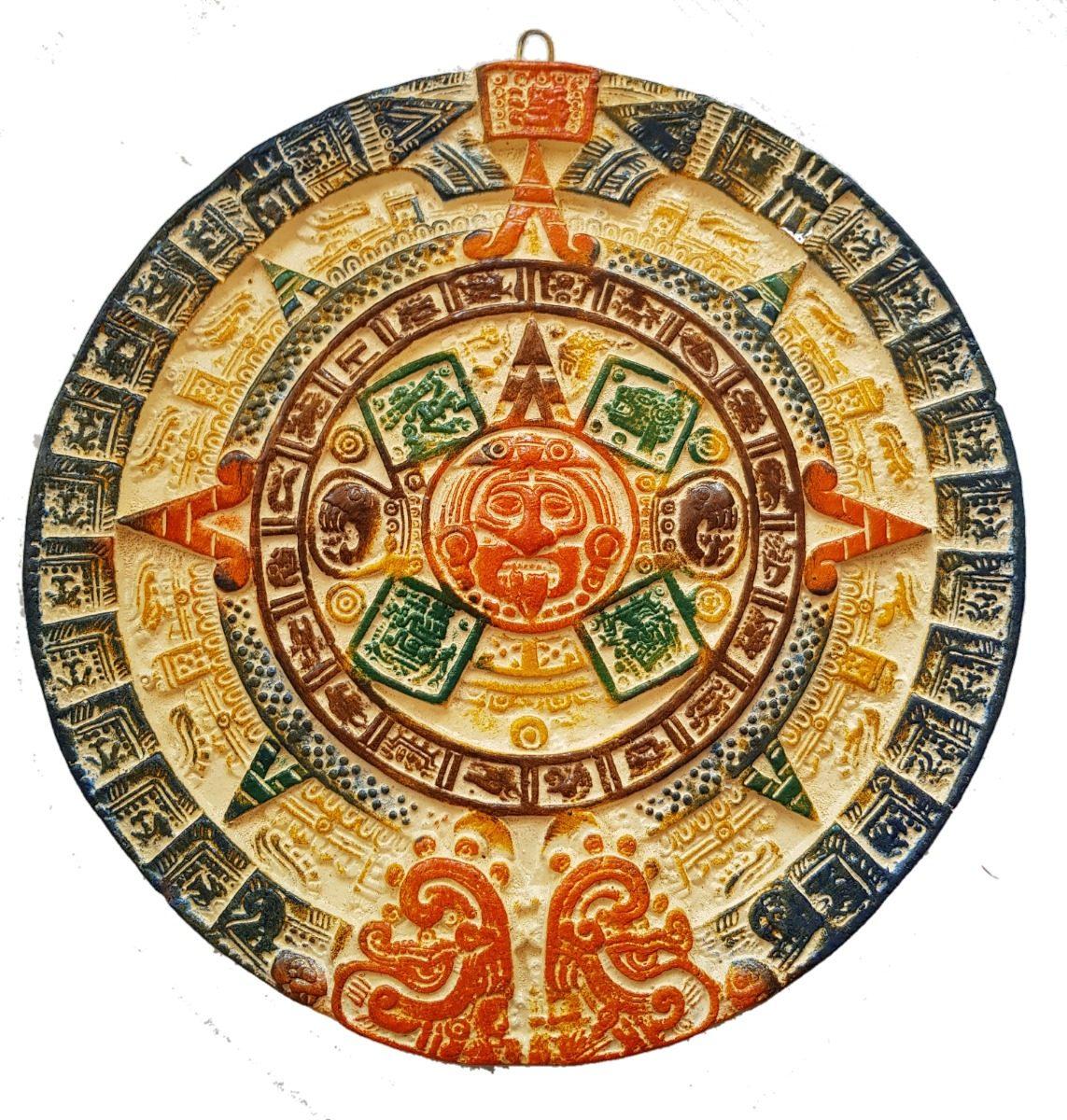 Calendario Azteca De Barro Artesania Mexicana Color 39000 En
