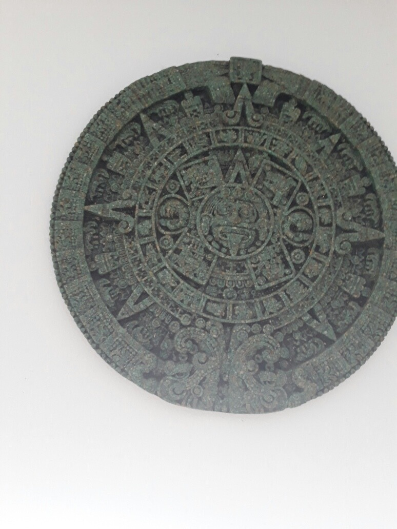 Calendario Azteca Original Mexicano En Relieve Piedra Solar