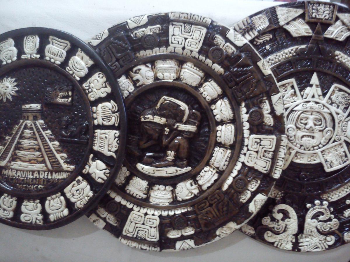 Calendario azteca tallado en piedra caliza 100 - Piedra caliza precio ...
