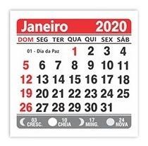 calendário bloco para ímã 2020- 2x0 500 unid. lembrança