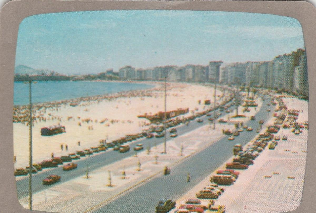 Calendario F2.Calendario Bolso 1974 Imagem Praia Rio De Janeiro F2