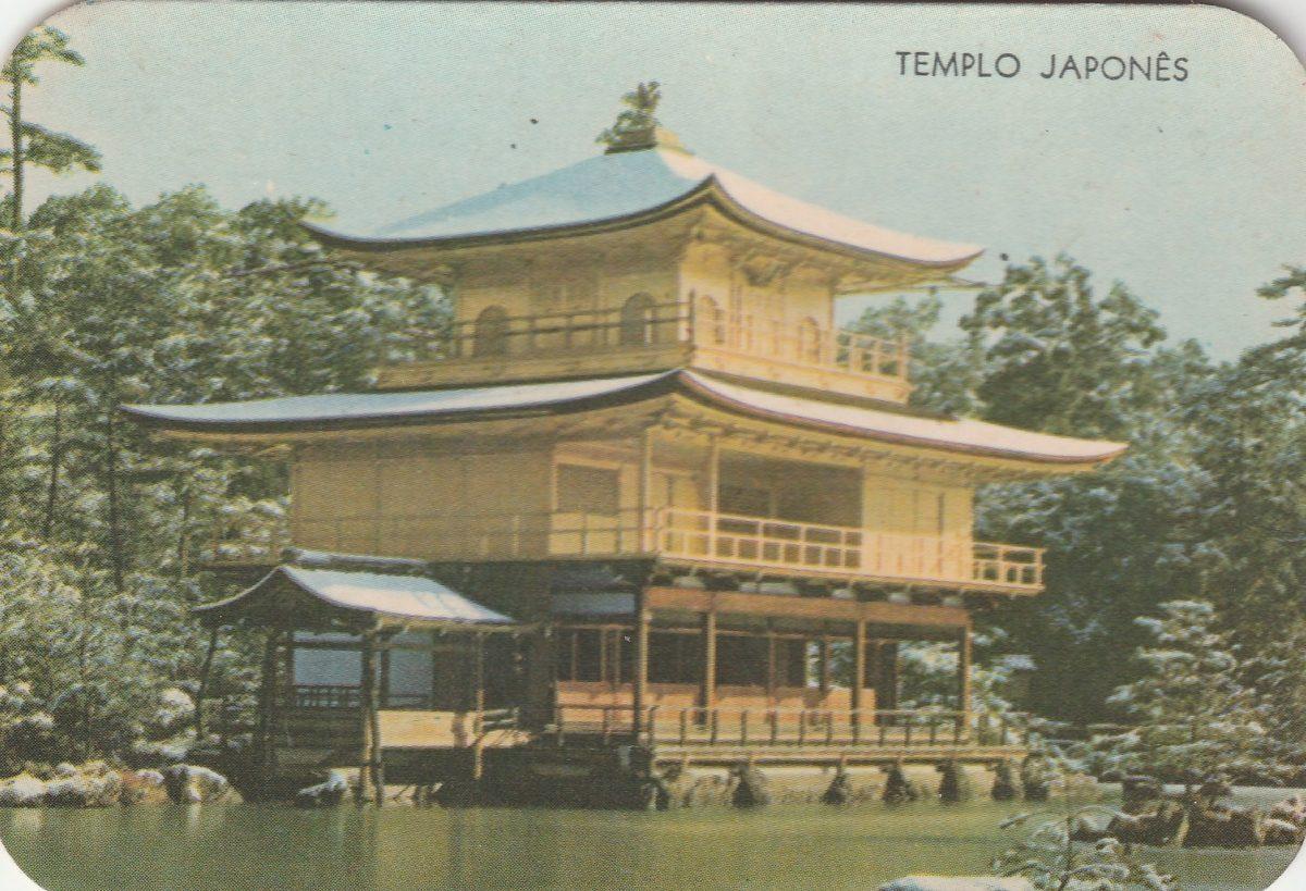 Calendario F2.Calendario Bolso 1974 Imagem Templo Japones F2