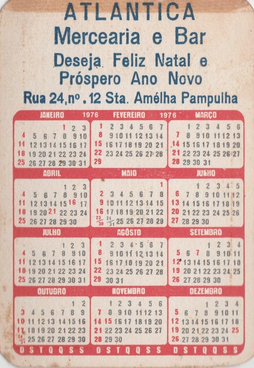 Calendario De 1976 Completo.Calendario Bolso 1976 Imagem Av Beira Mar Vitoria F4
