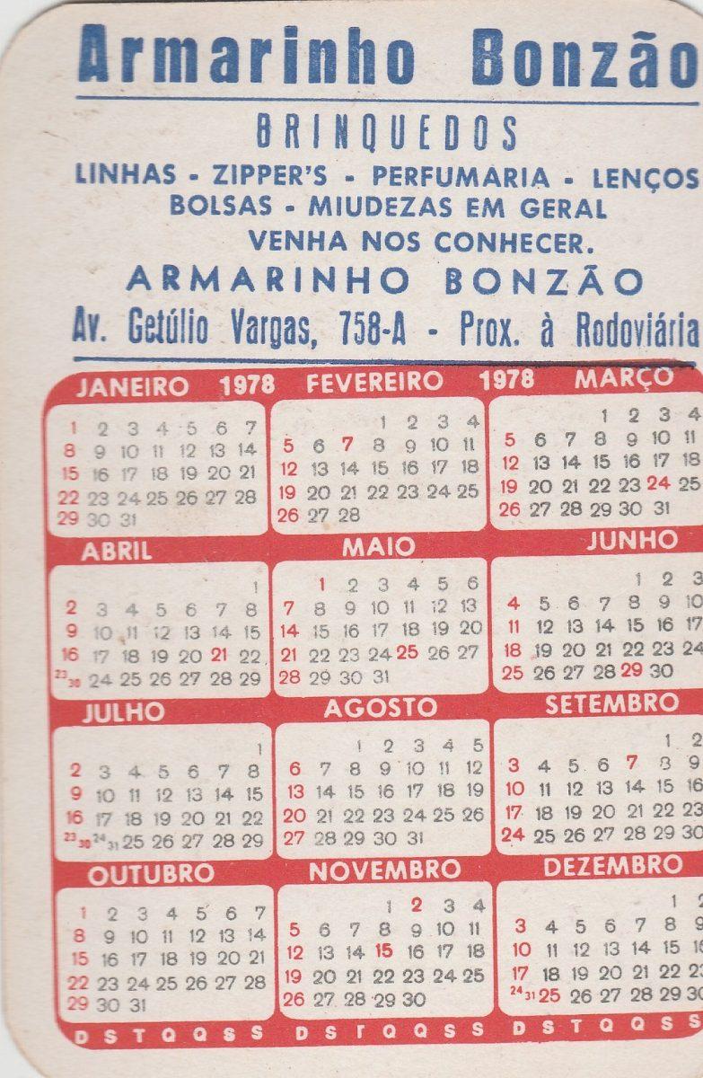 Calendario De 1978.Calendario Bolso 1978 Imagem De Pintura Ai1