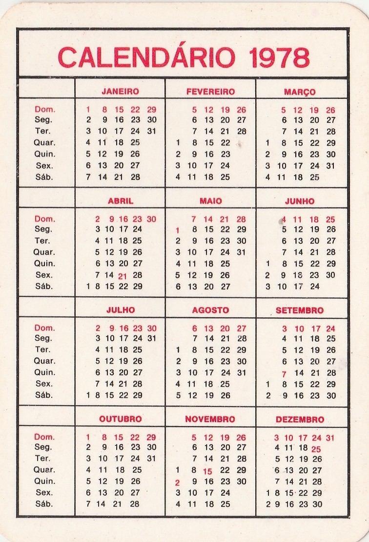 Calendario De 1978.Calendario Bolso 1978 Raphael Papleo Refratario Aj8