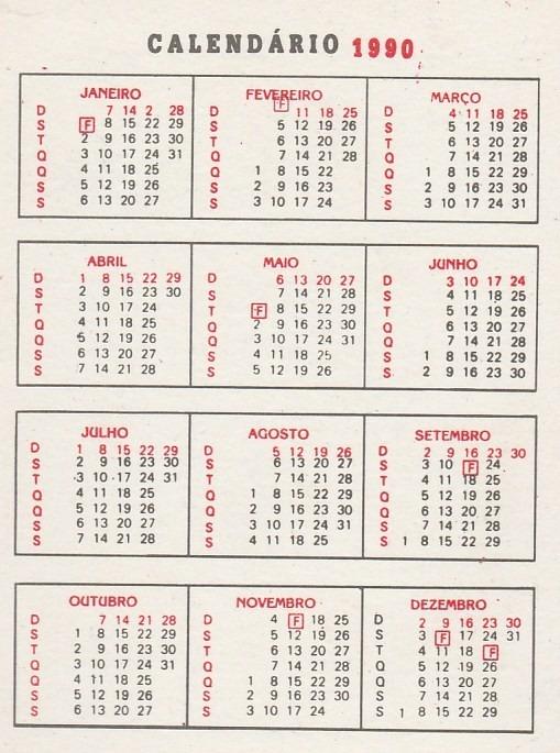 1990 Calendario.Calendario Bolso 1990 Calendario Politico Aj3