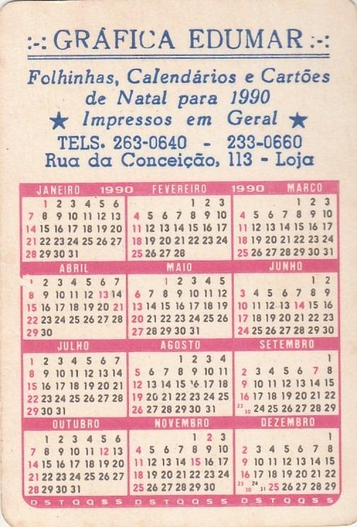 1990 Calendario.Calendario Bolso 1990 Jesus Cristo Aj3