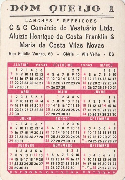 1990 Calendario.Calendario Bolso 1990 Mapa Da America Do Sul Aj3