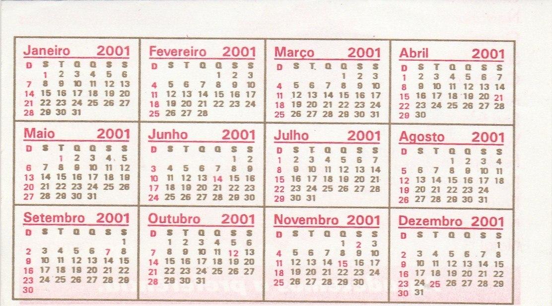 Calendario 2001.Calendario Bolso 2001 Tok Marcante Bg4