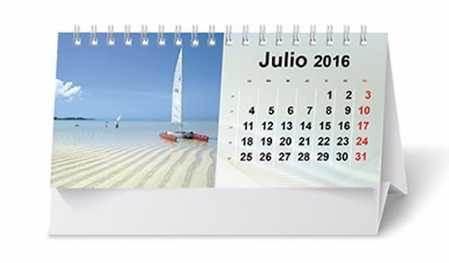 calendario con doble ring y logo personalizado