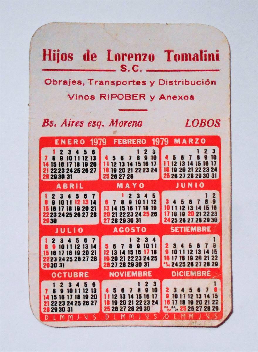 Calendario Del 1979.Calendario De Bolsillo 1979 Hijos De Lorenzo Tomalini Lobos 220 00