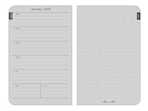 calendario de bolsillo rite in the rain,negro, 8.89 x 13.97