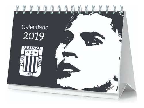 calendario de escritorio 2019 de equipo d futbol regalo