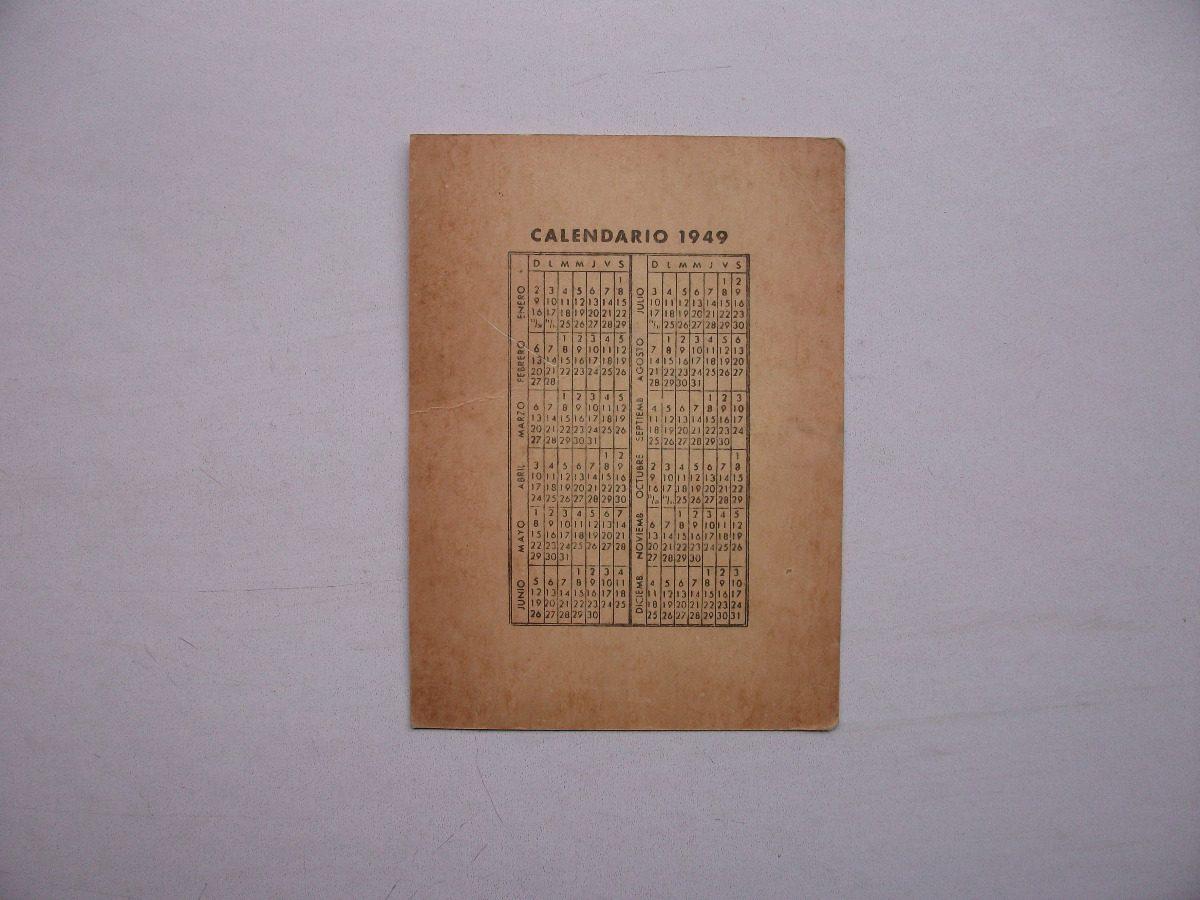 Calendario 1949.Calendario De La Sociedad Argentina De Horticultura 1949 58 00