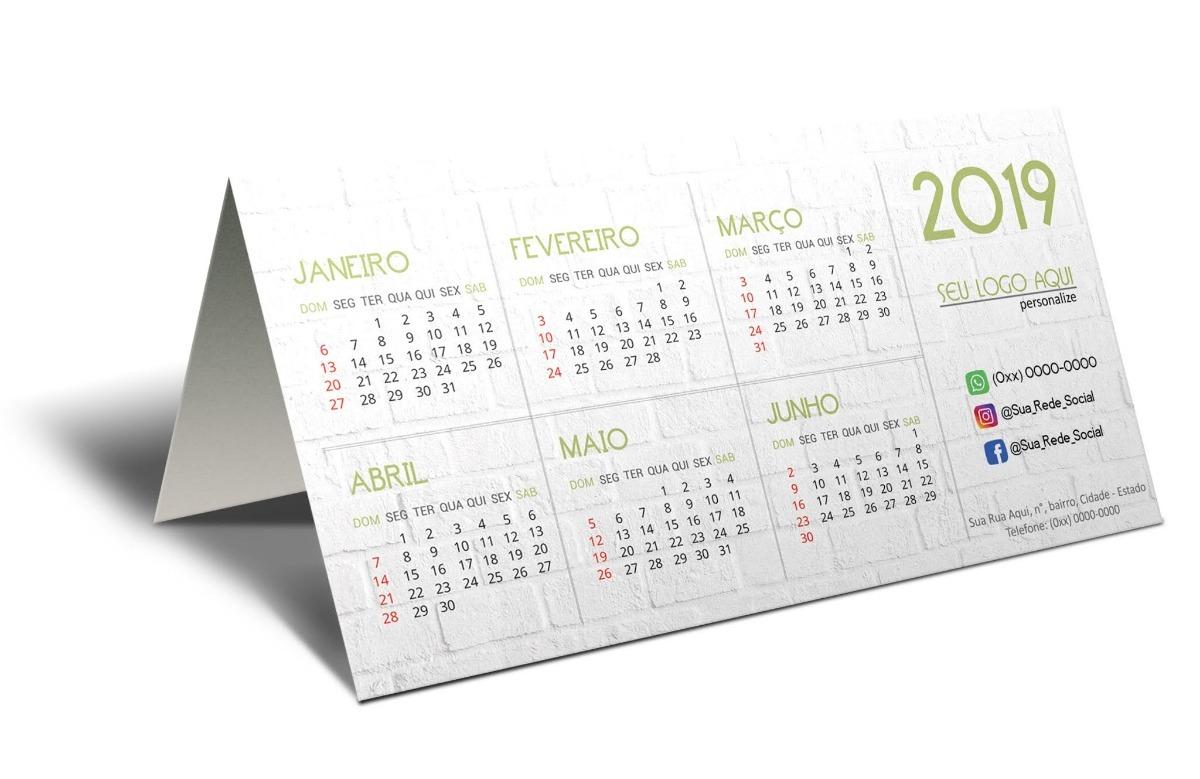 3bbadc6ec calendário de mesa 2019 personalizado pvc 500 unds brinde. Carregando zoom.
