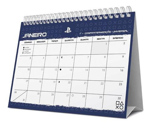 calendário de mesa 2021 playstation 210514 spiral ps pt 1 un