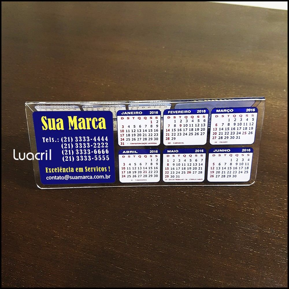 Calendario Unisa.Calendario De Mesa Em Acrilico Personalizado Kit 30 Pecas