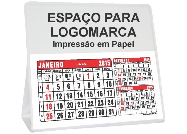 80b233f7e Calendário De Mesa Em Pvc 2018 - R  280