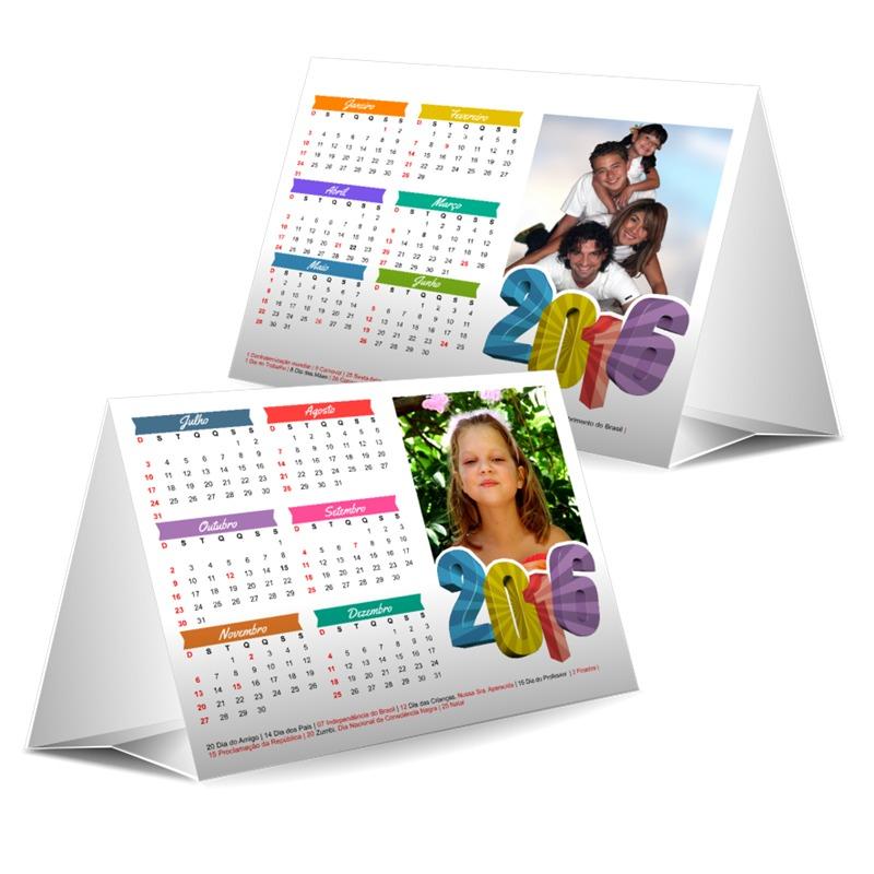 Calend rio de mesa personalizado frete gr tis acima 70 - Calendario de mesa ...
