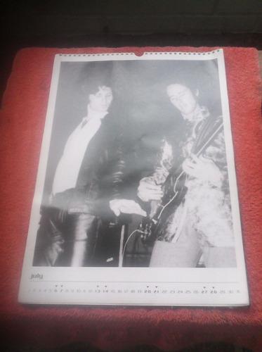 calendario de pared de the doors edición 2002 de colección.