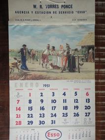Calendario 1951.Calendario De Parede Esso 1951