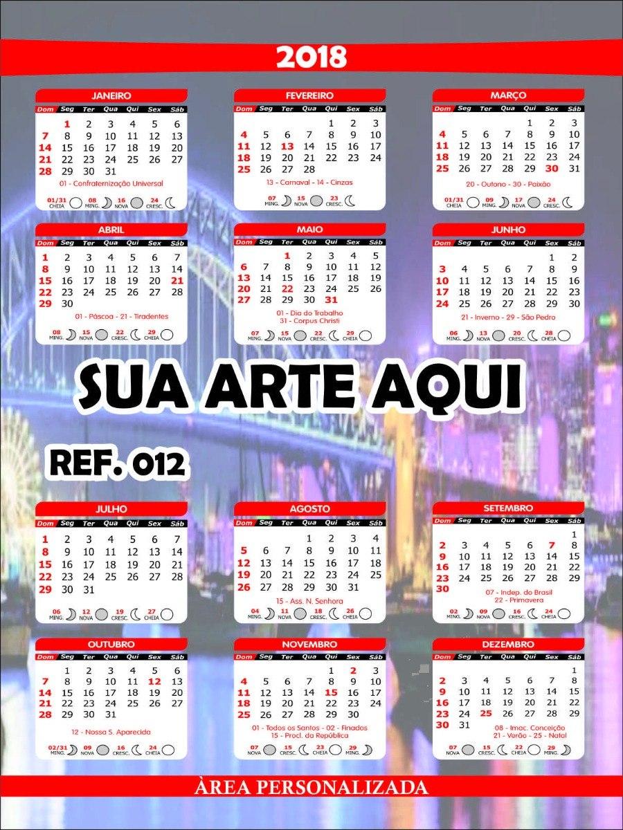 Calendario Progressivo 2020.Calendario De Parede Folhinha 2020 500 Unid Personalizado