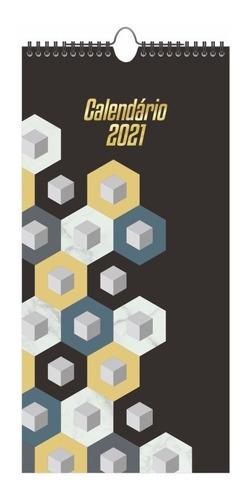 calendário de parede graphic 41 cm 2021 redoma