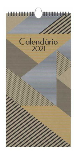 calendário de parede kraft 41 cm 2021 redoma