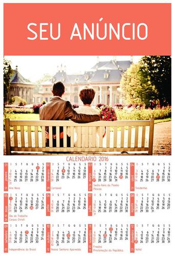 calendário de parede personalizado - folhinha 2019