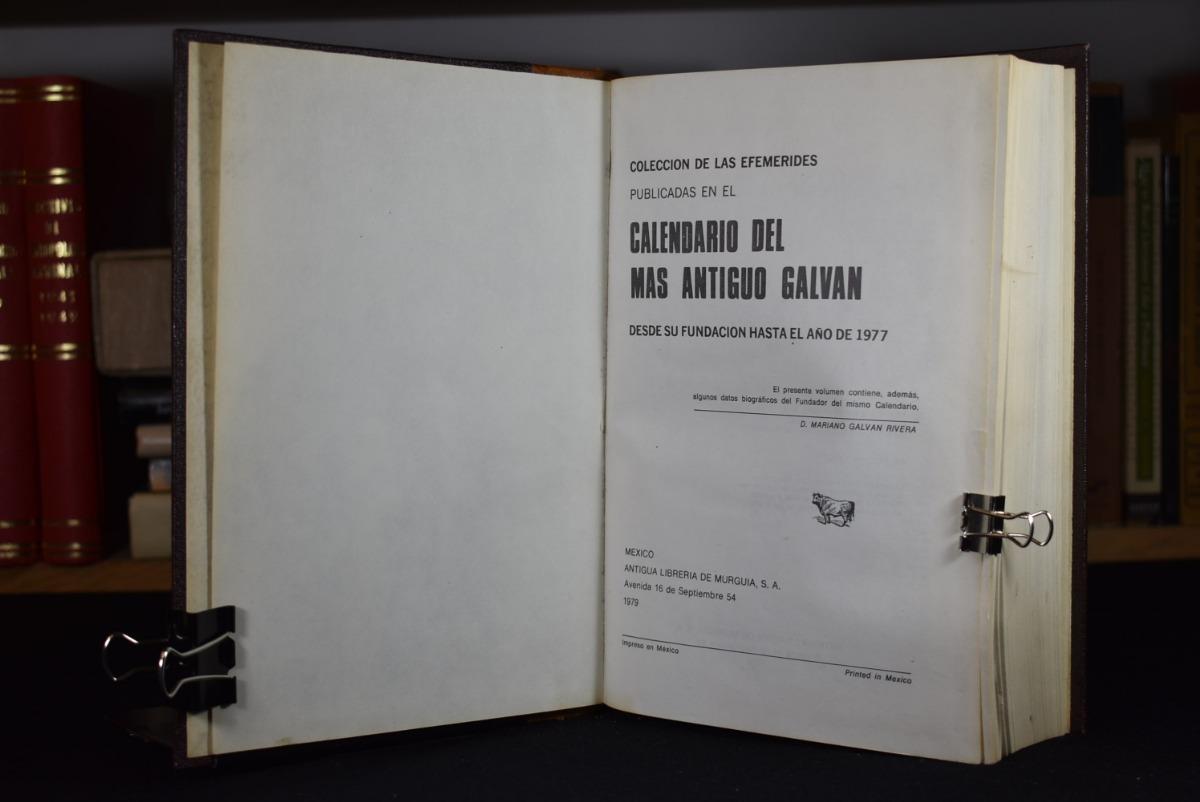 Calendario Del 1979.Calendario Del Mas Antiguo Galvan Galvan Coyote 400 00