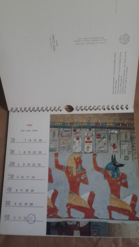 calendario faraonico 1993, fotos