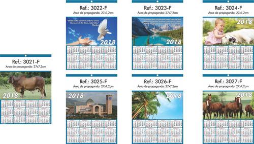 calendário, folhinhas de parede 2018 linha 3000