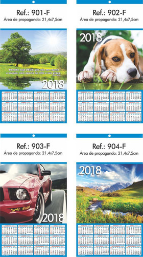 calendário, folhinhas de parede 2018 linha 900
