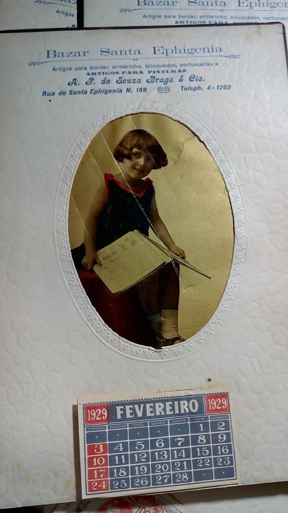 Calendario 1929.Calendario Foto Antigo 1929 6 Itens
