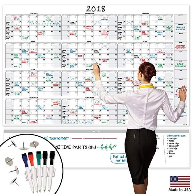 Calendario Grande.Calendario Grande Borrado En Seco De La Pared 58 X 38