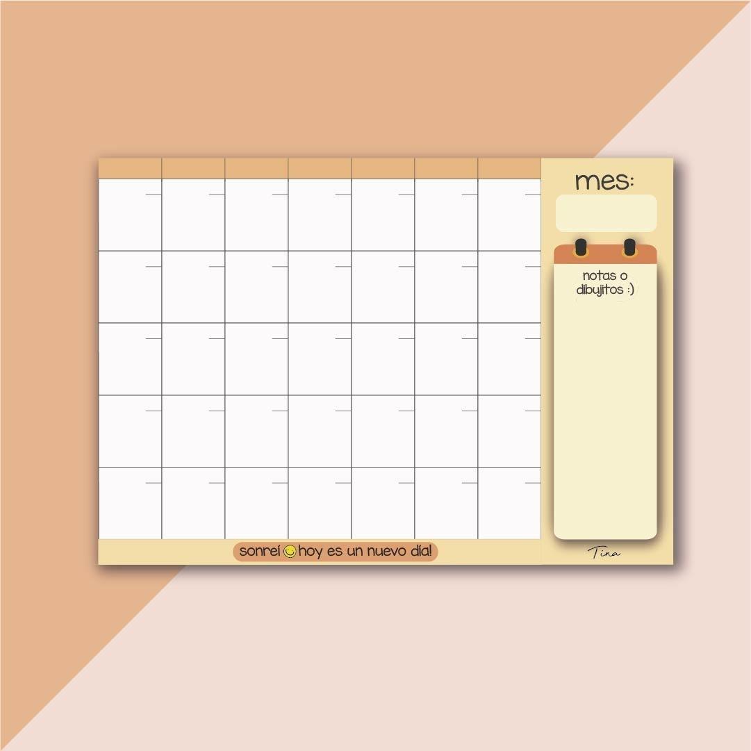 Calendario Para Escribir.Calendario Iman Pizarra Tamano A3 Para Escribir Con Fibron