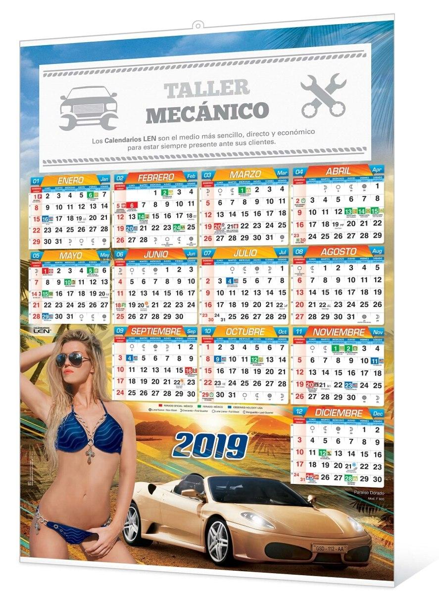 Calendario F.Calendario Len Tipo F De Pared Con Varilla 100 Piezas