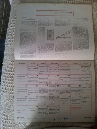 calendario matemático 1996 con ejercicios