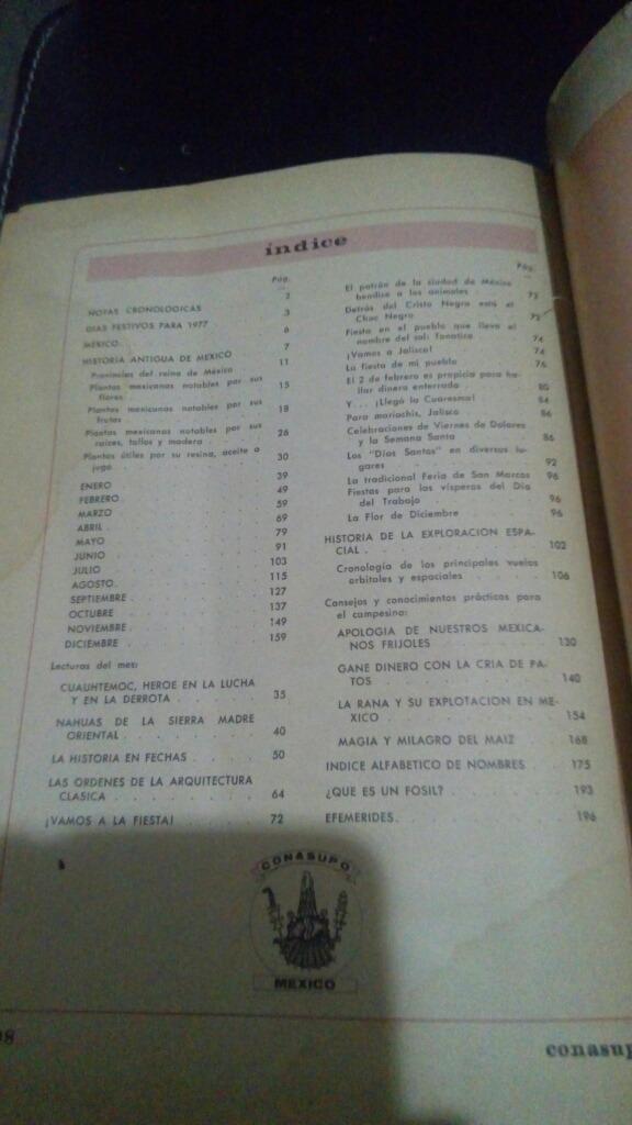 Calendario Del 1977.Calendario Mexicano 1977 Conasupo 500 00