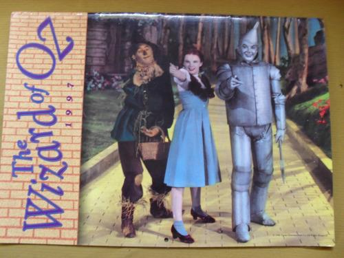 calendario-o mágico de oz 1997  ilustrado em ingles