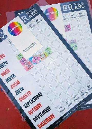 calendario organizador de maratón carreras running con imán