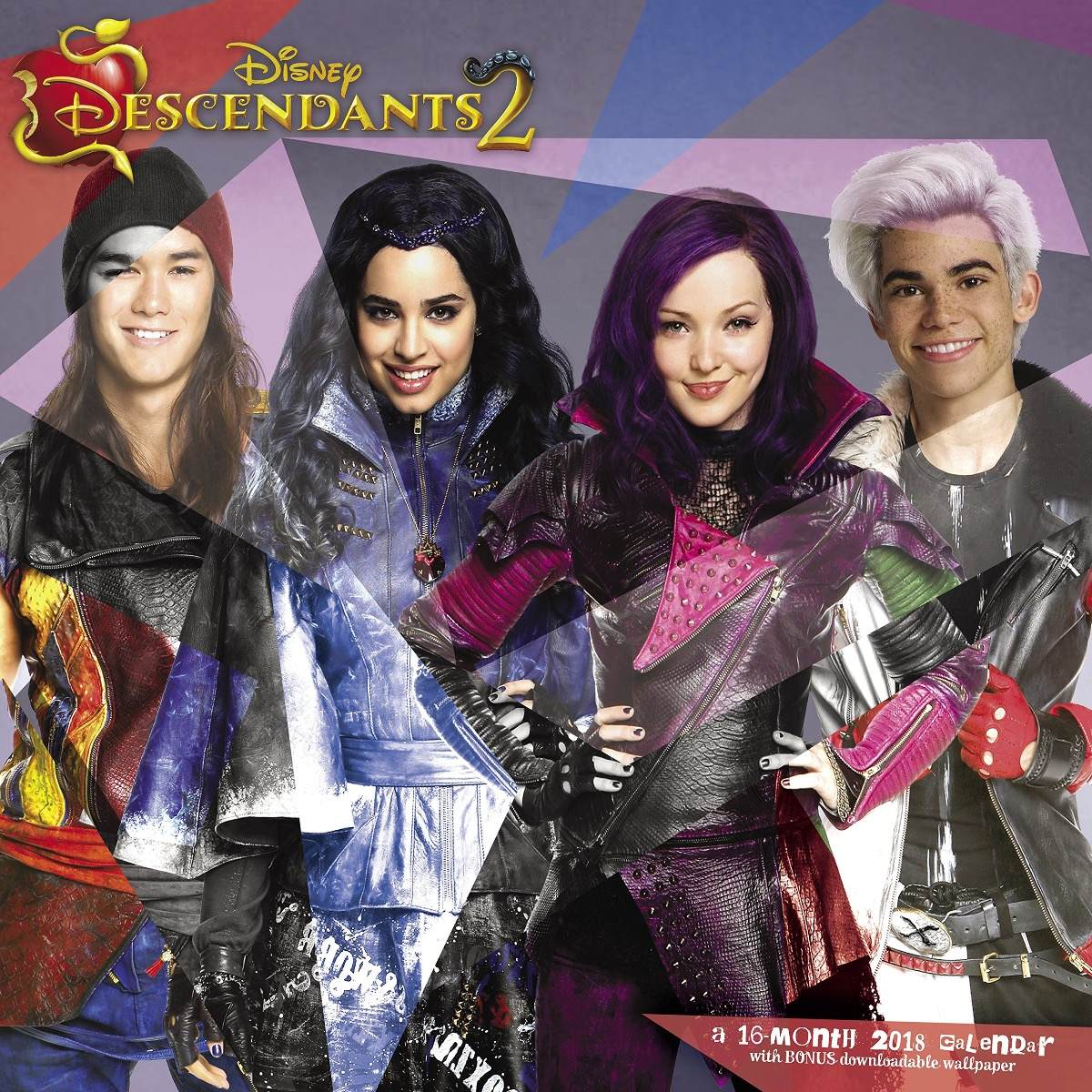 Calendario Pared 2018 Descendientes 2 Disney Hoja Por Mes 9900
