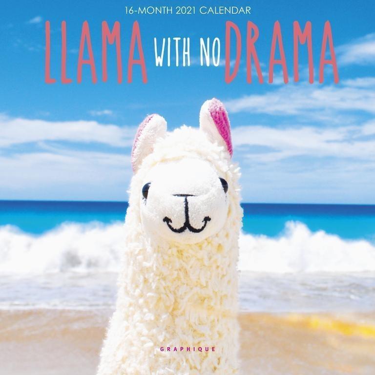 Calendario Pared 2021 Llama No Drama   16 Meses   Mosca   $ 360,00