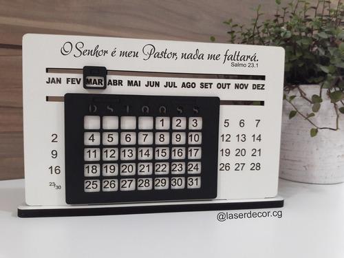calendário permanente mdf