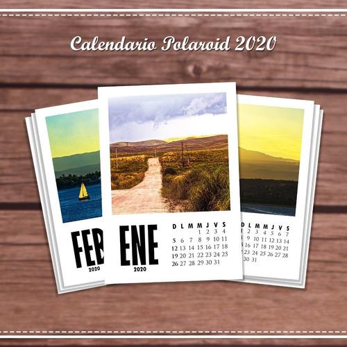 calendario polaroid personalizado