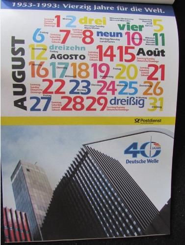 calendário postal alamão 40 jahre 1993 - a53