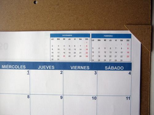 calendario programador planeador 2020  grande (tamaño a3)